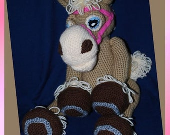 Crocheted Palomino Horse, Paula