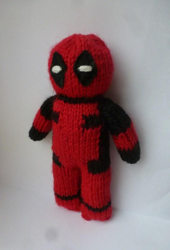 Deadpool Knitting Pattern : PDF knitting pattern: Deadpool from NerdKnitting on Etsy Studio