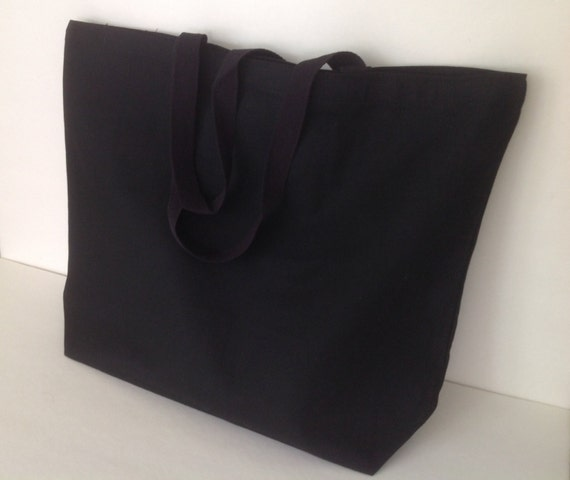 extra large black 12oz plain canvas tote canvas by organizedmesss. Black Bedroom Furniture Sets. Home Design Ideas