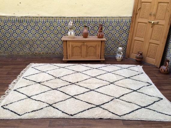 gorgeous beni ourain luxurious deep pile rug teppich 6x9. Black Bedroom Furniture Sets. Home Design Ideas