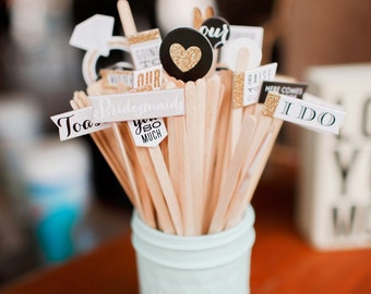 Wedding Themed Drink Stirs