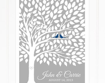 Wedding Guest Book Tree Wedding Guestbook Poster Guest Book Alternative for 175 Guests Spring Wedding Summer Wedding Guestbook Tree Poster