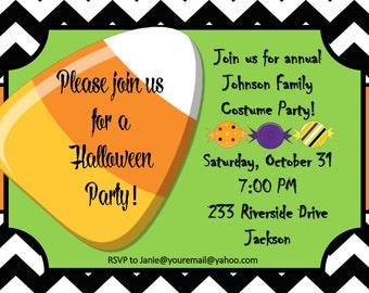 Halloween Party Invitation | Halloween Costume Party | Birthday Party | Customizable Invitation