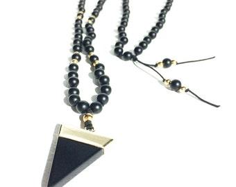 108 Mala Beads Long Beaded Necklace Knotted Mala Meditation Beads Prayer Beads Black Agate Mala Necklace Boho Jewelry Healing Stone Harmony