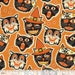 1/2 yard SPOOKTACULAR EVE  by Maude Asbury for Blend Fabrics Cat-tastic Orange