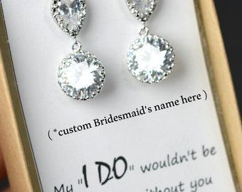 Bridesmaid Jewelry Weddings Bridesmaid Earrings Bridesmaid Gift Bridal Earrings Jewelry Wedding Jewelry
