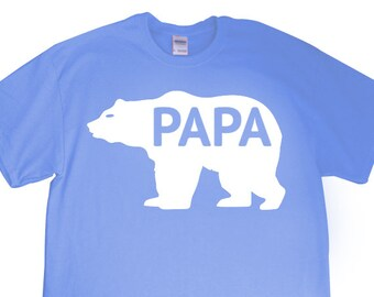 """New """"Papa Bear"""" Mens T-shirt for Dad, Father, Papa, Grandpa, Party, Grandfather's Day, Friend, Boyfriend, Brother, Fiance, Gift"""