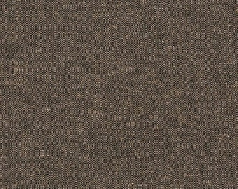 Robert Kaufman Yarn Dyed Essex - Espresso- Cotton Fabric