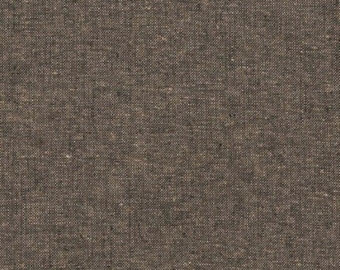 Robert Kaufman Yarn Dyed Essex - Espresso- Cotton Fabric