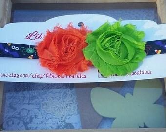 Halloween Shabby Chic Headband for babies, toddlers, girls