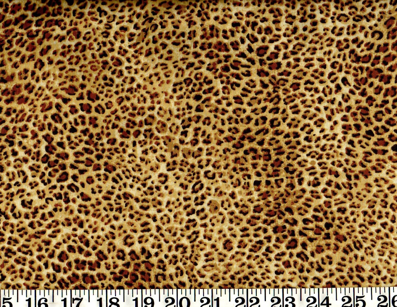 Animal print cotton fabric cheetah skin print by the yard for Cotton fabric by the yard