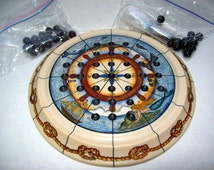 Wallace (Covent Garden) London Faux Ivory Nautical Maritime MARBLE SOLITAIRE GAME