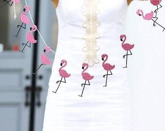 Flamingo Garland, Flamingo Party Decor,  Hawaiian Garland, Flamingo Decoration, Birthday Decor
