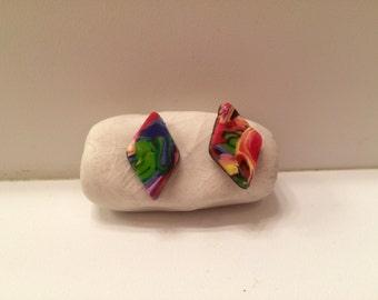 Rainbow Polymer Earrings