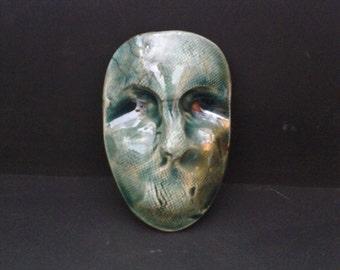 DECORATIVE FACE MASK - Raku Serendipity - Hand Made Ceramic