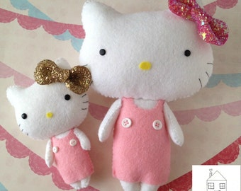Hello Kitty felt plush Doll