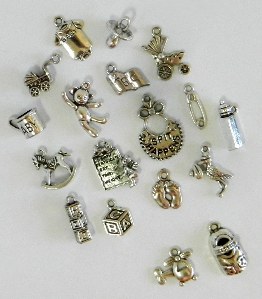 17 baby charms birth charm baby shower charm baby charm. Black Bedroom Furniture Sets. Home Design Ideas