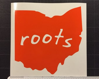 Ohio Roots Decal Sticker OH home FREE SHIPPING