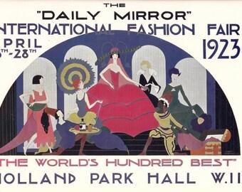 1923 London Fashion Week Poster Reprint