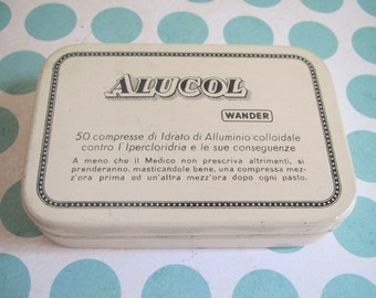 Pharmacy tin, Dr. A. Wander  Alucol Tin