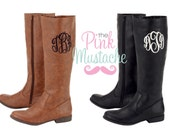 Monogrammed Boots / Monogrammed Leather Boots / Boutique Boots