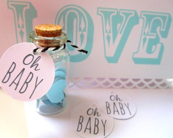 Oh Baby Gift Tags/ Baby Favour Tags/ Baby Shower Gift Tags - GT032