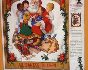 Santa's children wallhanging panel