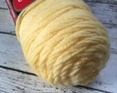 New Red Heart Super Saver Yarn Worsted Weight Yellow Lemon 235 Destash Knitting Crochet Supplies