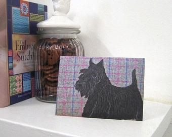 Scottie dog card, Scottish Terrier birthday card - Scottie dog greetings card - blank card - dog card - Scottie dog notecard - Scottish card