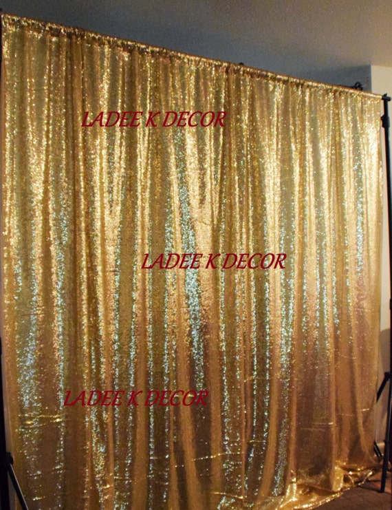 Gold Sequin Backdrop 45w X 5L Photo Prop Curtain