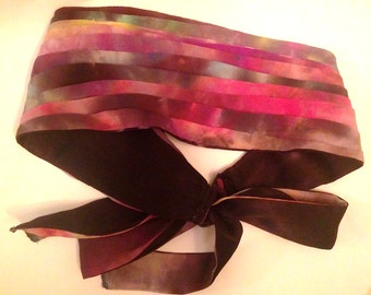 Hand dyed Reversible Headband