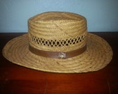 Vintage Straw Hat with Small Kangaroo