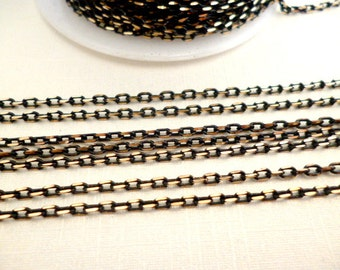 Nikel Free Black and Gold Fine Chain_SO1686855AA_3 meters of 2 mm _Laser treatment Chayns