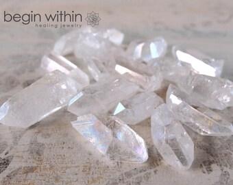RAINBOW AURA QUARTZ Crystal Points 12g Bag / Angel Aura Quartz, Opal Quartz / Crystal Healing, Angel Crystal, Meditation Stones