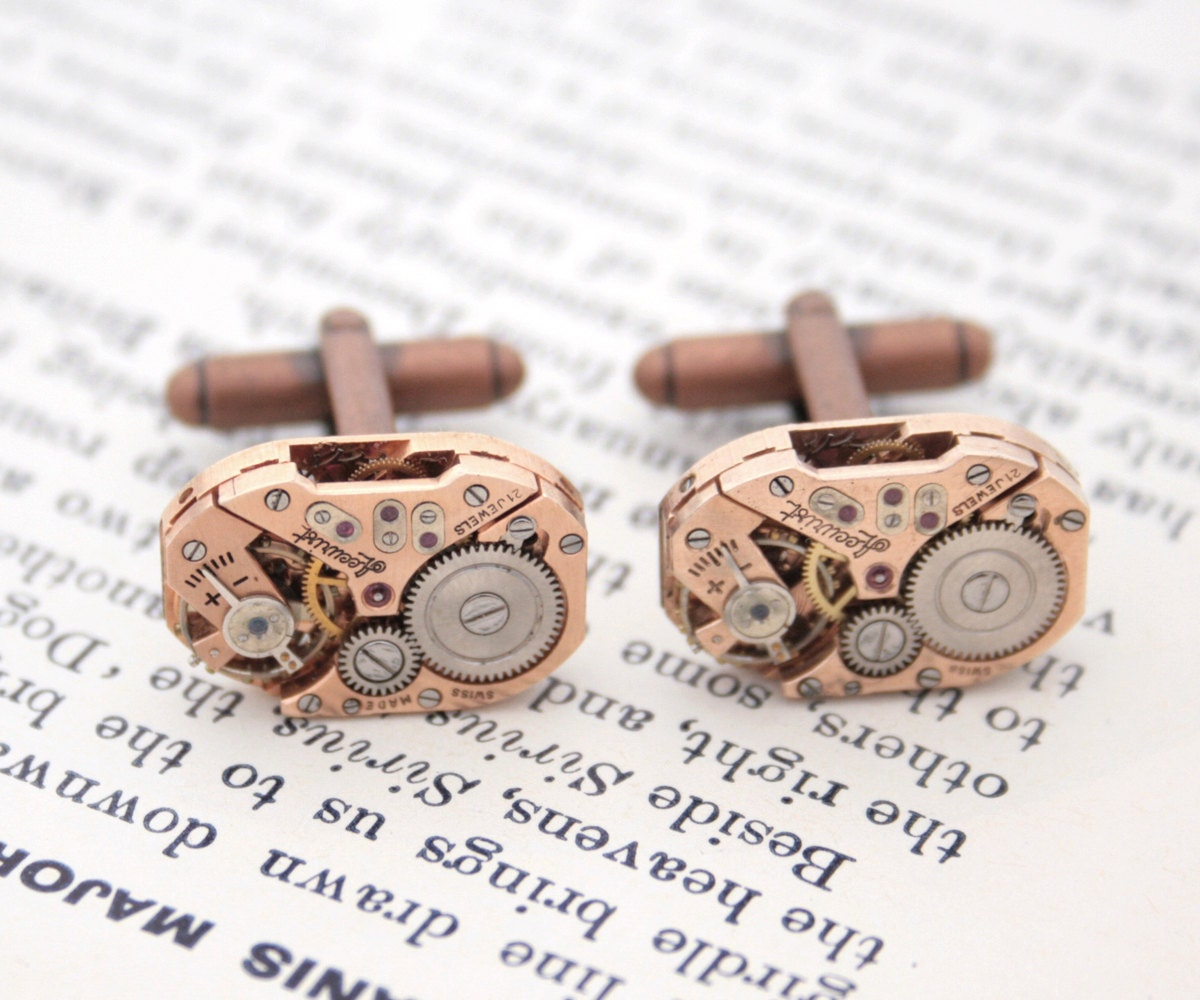 Copper Wedding Gifts: Copper Cufflinks Wedding Anniversary Copper Gifts For Men