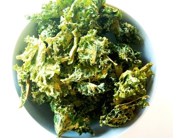 "Organic ""Super Kale"" Chips  / Gluten Free / Vegan / Raw / Low Carb  / Paleo Friendly"
