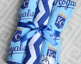 Kansas City Royals Baseball Burp Cloths