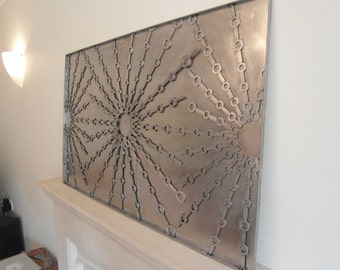 Stainless steel metal wall art sculpture