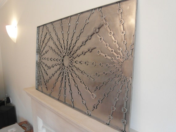 Stainless steel metal wall art sculpture for Stainless steel wall art