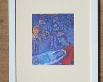 """Framed and Mounted Marc Chagall Print - 16"""" x 12"""""""