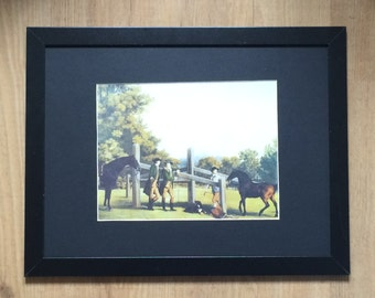 "A Young Champion framed wall art - 16"" x 12"" , George Stubbs print, early print"