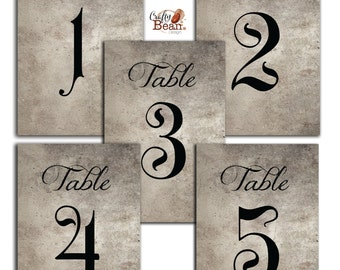 Wicked / Halloween / Horror / Gothic Style Table Numbers DIY Printable 1-10