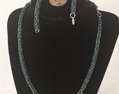 Teal chain and bracelet set