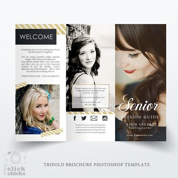 Senior Photography Guide Trifold Brochure Template Studio – Studio Brochure