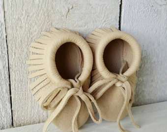 Leather Baby Moccasins / Baby Moccasins / Leather Baby Shoes / Leather Moccasins / Baby Shower