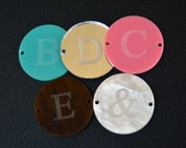 Engraved Acrylic Discs Only for Wire Wrapped Bracelet Bauble Tortoise Shell Pearl and More Acrylic Only