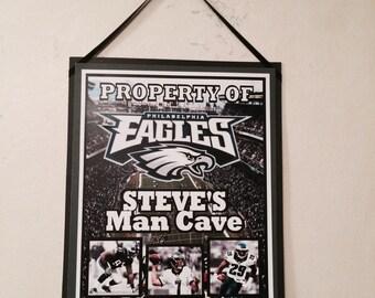 Philadelphia Eagles Personalized Room Sign,Philadelphia Eagles Personalized Bar Sign,Sports sign,Eagles Birthday, Football