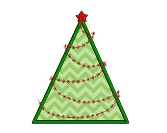 christmas tree applique machine embroidery design christmas tree embroidery design in four sizes xmas - Christmas Tree Applique