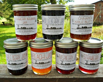 Homemade Jam - Over 50 Flavors of Jam - Jelly - Marmalade  - Gourmet Jam - Fresh Fruit Jam - Hostess Gift - Food Gift - Jam gift for Mom Dad