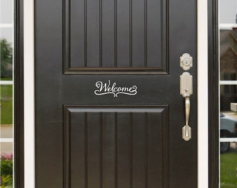 Welcome Front Door Sign  Door Sticker Door Decal House Door Sign